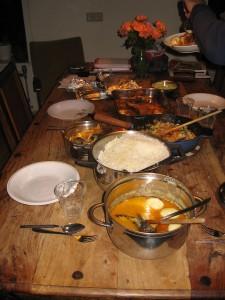 Indische rijsttafel die je bij de KookPraktijk kunt bestellen