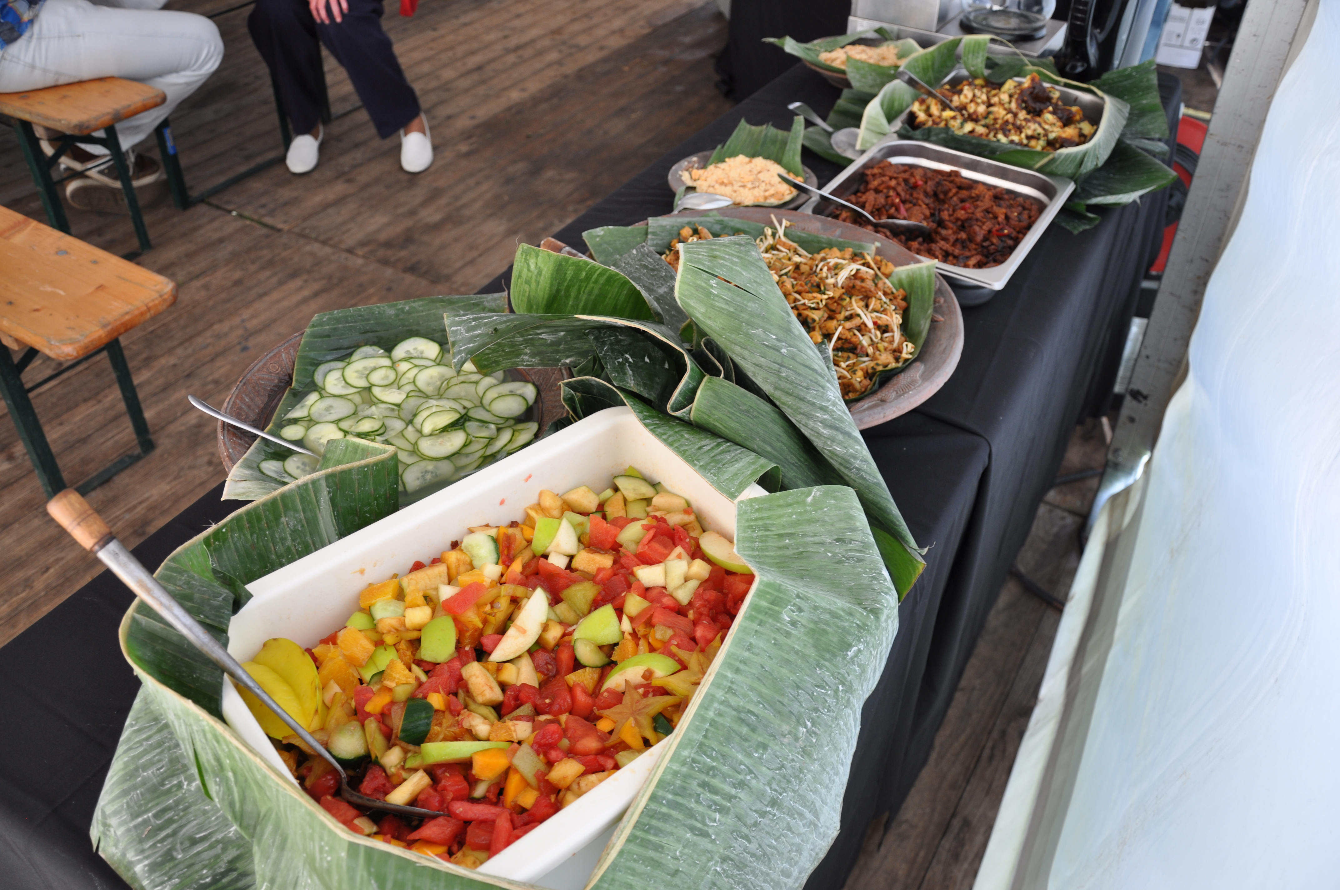salade buffet,Indische Molukse catering
